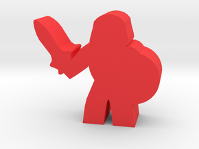 Game Piece, Barbarian Prince With Shield in Red Processed Versatile Plastic
