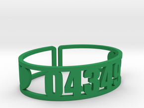 Vega Zip Cuff in Green Processed Versatile Plastic
