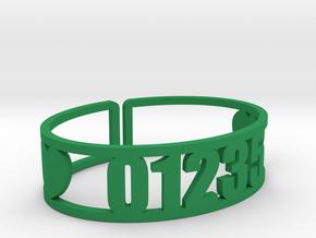 Romaca Zip Cuff in Green Processed Versatile Plastic