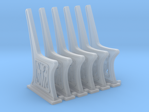 GWR Bench Ends HO scale 6 x sprue in Smooth Fine Detail Plastic