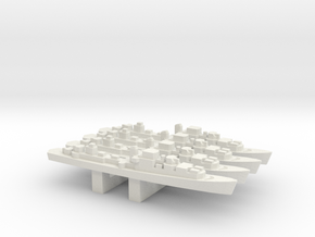 Le Corse-class Frigate x 4, 1/3000 in White Natural Versatile Plastic