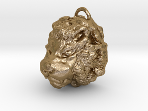 Lion necklace in Polished Gold Steel