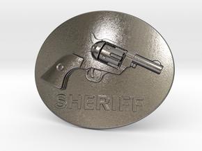Colt Belt Buckle in Polished Nickel Steel