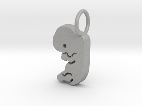 Eight Week Fetus Pendant/Charm in Aluminum