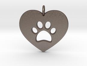 Pet Love in Polished Bronzed Silver Steel