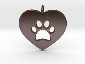 Pet Love in Polished Bronze Steel