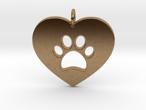 Pet Love in Natural Brass