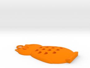 Owl Pendant in Orange Processed Versatile Plastic
