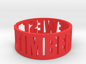 Timber Lake West in Red Processed Versatile Plastic