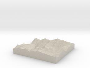Model of Crystal Lake in Natural Sandstone