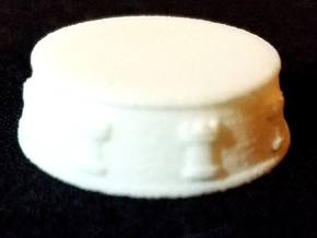 Chess Rook Base - 1 inch in White Natural Versatile Plastic