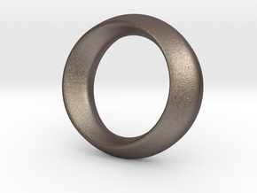Opus Ring - Bracelet P=180mm in Polished Bronzed Silver Steel
