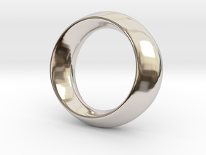 Opus Ring - Bracelet P=180mm in Rhodium Plated Brass
