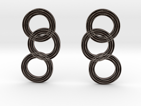 Raindrop earrings in Polished Bronzed Silver Steel