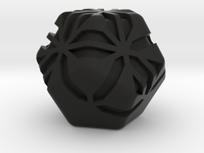 Stipes D12 (platonic dodecahedron version) in Black Natural Versatile Plastic