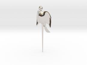 Bird shaped fork in Rhodium Plated Brass