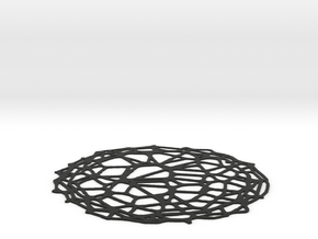 Coaster - Voronoi #4 (15 cm) in Black Natural Versatile Plastic