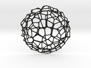 Coaster - Voronoi #9 (20 cm) in Black Strong & Flexible