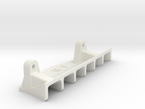 VBC LightningFX Rear Diffuser in White Natural Versatile Plastic