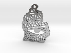 Michigan Eye of Horus Pendant in Natural Silver