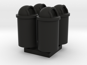 MOF Trash Can 55 Gal(4)[72-1] in Black Natural Versatile Plastic