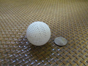 Hollow Wire Sphere V3 in White Natural Versatile Plastic
