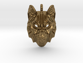 Timber Wolf Pendant in Natural Bronze