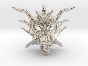 Sunlight Dragon Pendant in Platinum