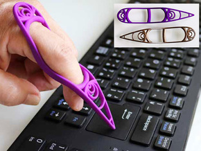 Finger Input Device in Purple Strong & Flexible Polished