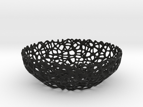 Voronoi bowl (15 cm) - Style #8 in Black Strong & Flexible