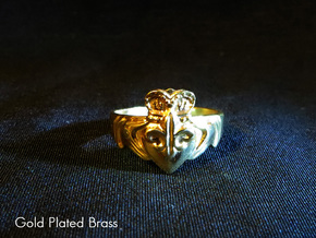 NOLA Claddagh, Ring Size 12 in White Natural Versatile Plastic