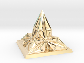 Pyramid Arcology in 14K Yellow Gold