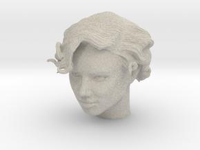 Adriana Lima Female Model Head Sculpt in Natural Sandstone