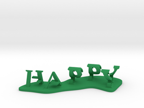 Happy ass in Green Processed Versatile Plastic