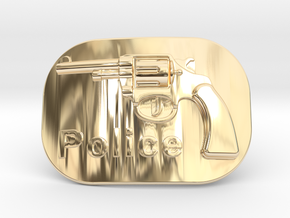 Colt Police Belt Buckle in 14K Yellow Gold