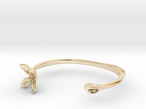 Helix Bracelet in 14k Gold Plated Brass