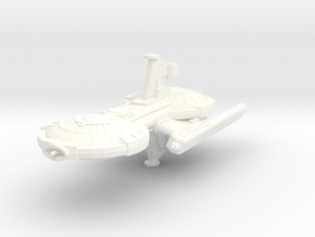 Gorn Strike Frigate in White Strong & Flexible Polished