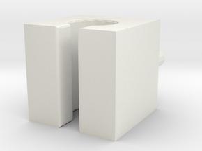 Wire Holder in White Natural Versatile Plastic