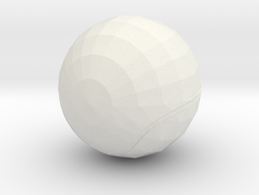 Tennis Ball in White Strong & Flexible