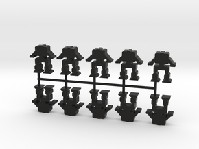 Game Piece, Heavy Advanced Artillery Mech, 10-set in Black Natural Versatile Plastic