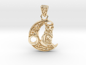 Kitty in 14k Gold Plated Brass