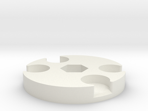 Pad Pod/Dolly Spacer in White Natural Versatile Plastic