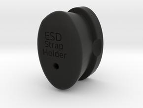 ESD Wrist Strap Holder in Black Natural Versatile Plastic
