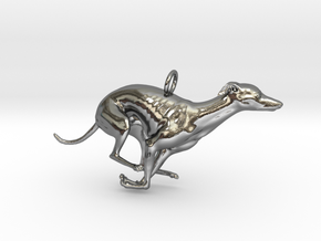 whippetPendant in Fine Detail Polished Silver