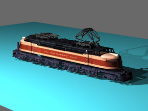 NScale EF4 Little Joe, Milwaukee Road Early with F in Frosted Ultra Detail