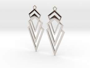 Art Deco Earrings - Valorous in Rhodium Plated Brass