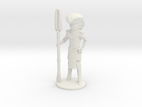 Serpent Guard with Staff and Sidearm - 20mm in White Natural Versatile Plastic