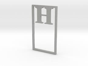 Bookmark Monogram. Initial / Letter H  in Aluminum