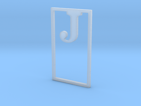 Bookmark Monogram. Initial / Letter  J  in Smooth Fine Detail Plastic