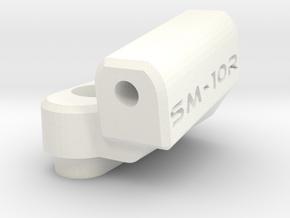 New School Reactive - 10 Degree Block - Right in White Processed Versatile Plastic